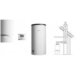 Vaillant VC 256/5-5 + VIH R 120/6 B + multiMATIC 700/5 + zestaw komina do szachtu 303920